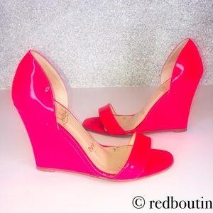 Zeppa passmule wedge hot pink sandals 36.5